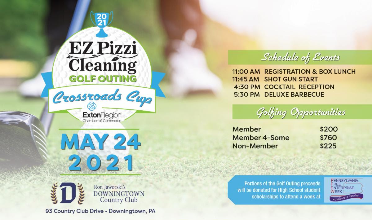 EZ Pizzi Cleaning Golf Outing - Exton Region Chamber of Commerce Crossroads Cup 2021